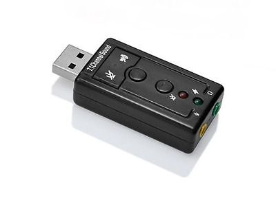 USB Speaker Headphone Virtual 7.1 3D Channel Audio Sound Card Adapter PC Laptop