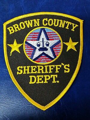 Brown County, Wisconsin Sheriff Police Shoulder Patch Wi