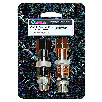 Gentec Torch to Hose Quick Connect/Connector Set, QC-HTPRSP
