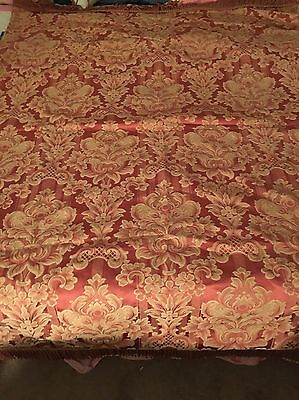 Vintage French Tapestry Brocade Barkcloth era  78 by 59 in.