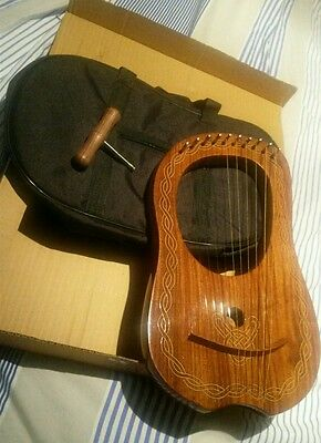 Lyre Harp 10 String New with Case and tuning key