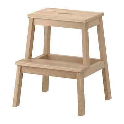 Ikea Wooden 2 Step Stool BEKVÄM Utility Step stool Birch Effect Light Kitchen