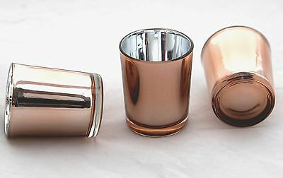 100 Rose Gold Wedding Party Event Tealight votive Candle Cup Glass table room