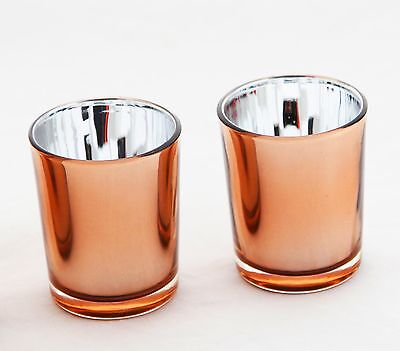 50 Rose Gold Wedding Glass Cup Tealight votive Candle holder table decoration