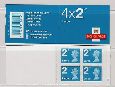 """GB 2009   4 x 2nd CLASS LARGE  BOOKLET RA2  """"FOYAL Without date"""