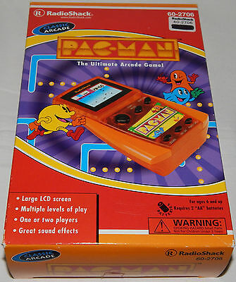 *vintage Pacman/pac-Man Lcd Electronic Handheld Game By Radioshack In Box/boxed*