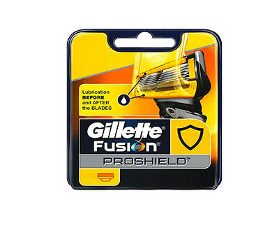 New Gillette Fusion Proshield Men Shaving Blades / Razor / Shavers * Original *