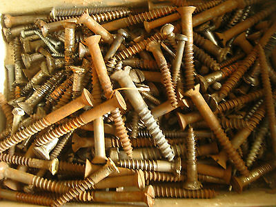 Flat Slot Straight Countersunk Screws Antique Restoration 400 COUNT many Plated