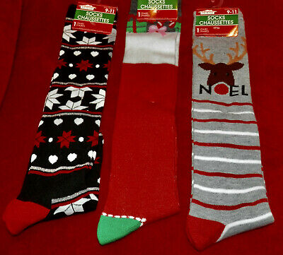 Christmas Women's  Knee High Socks ** Size 9-11 ** New With Tags ** So Cute **