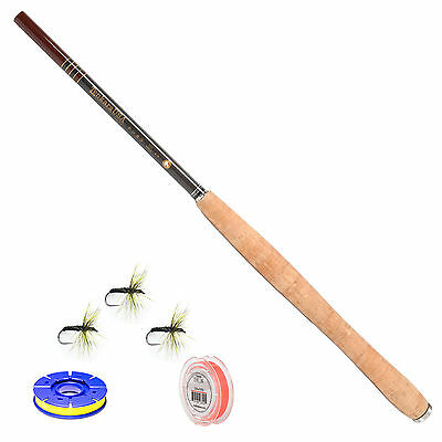 Tenkara USA USA Iwana 12ft. Carbon Fiber Fly Rod and Level Line Fishing Outfit