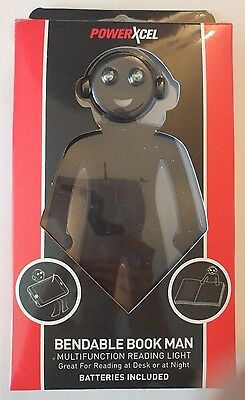 New Bendable Book Man (Black) Multi functional Reading Light Batteries Included