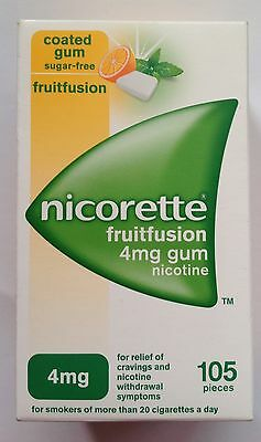 Nicorette Frutifuion flavour 4mg Coated Gum - 105 Pieces (Genuine)