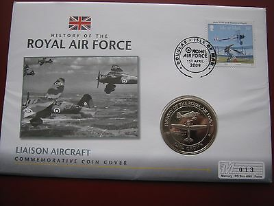 Gibraltar 2008 UNC Crown History of RAF Liaison Westland Lysander Coin Cover FDC