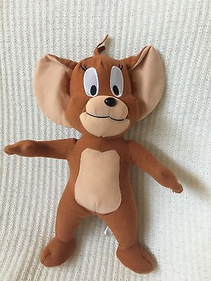 """TOM AND JERRY 14"""" Stuffed Animal Plush Brown JERRY MOUSE Toy Factory EUC"""