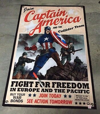 Captain america comic book poster world war us bond recruitment banner army
