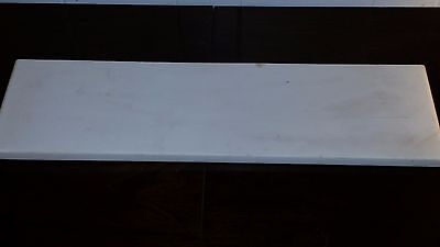"RECTANGULAR WHITE MARBLE SLAB  FOR TOP WASHSTAND TABLE SHELF 22"" x 6"" x 3/4"""
