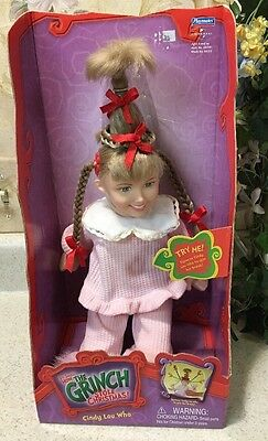 Dr. Seuss How the Grinch Stole Christmas Cindy Lou Who Doll Whobilation-new