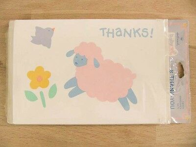 NEW Hallmark Vintage Baby Celebrations 8 Thank You Cards & Envelopes