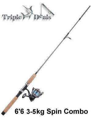 Brand New Jarvis Walker Royale Gold 6'6 2 Pce 3-5Kg Fishing Rod and Reel Combo