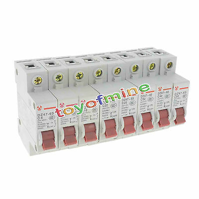 RCD / MCB Safety Switch 1 Pole 6A 10A 16A 20A 25A 32A 40A 50A RCBO Electrical