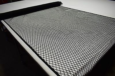 "Black Fishing Outdoor Marine Netting Fabric Polyester 60""W Durable Knot-less"