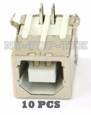 10X Plug Port Connector Socket PCB Replacement For USB Type B Female Right Angle
