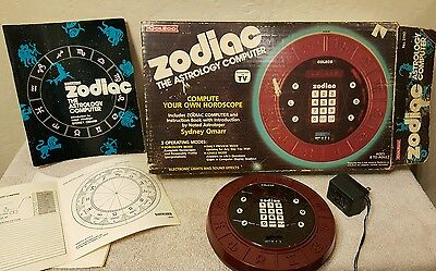 Vtg 1979 COLECO Zodiac Astrology Computer Game TESTED! WITH ORIGINAL BOX