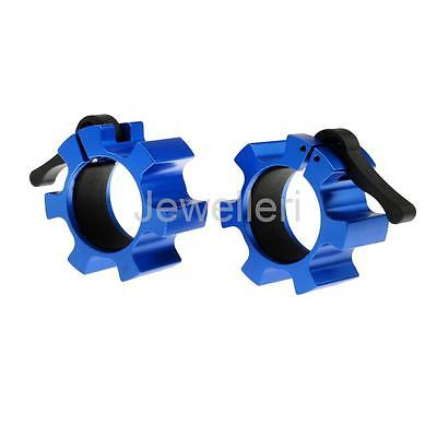 """Pair of 2"""" Weight Bar Collars Barbell Lock Jaw Dumbbell Locking Spin Clamps"""