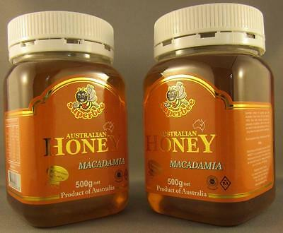 Macadamia Honey, Deliciously Nutty, Superbee, Twin pack, 2*500gms, free shipping