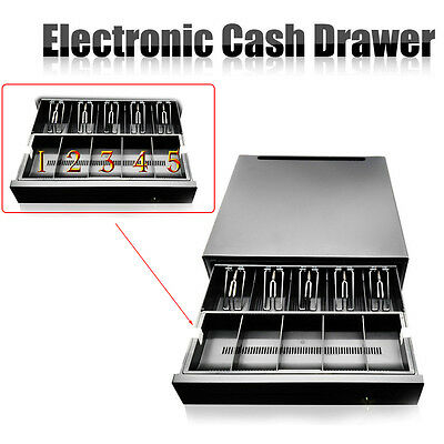 POS Cash Drawer w/ 5Bill/5Coin Tray RJ11 compatible with Star and Epson printer