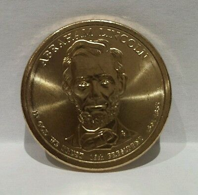 2010 D GOLD ABRAHAM LINCOLN PRESIDENTIAL DOLLAR (one) $1 COIN Uncirculated
