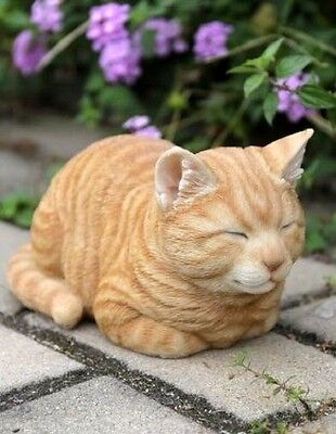 Cat Sleeping Orange Tabby New  Realistic Intricately Detailed Figurine