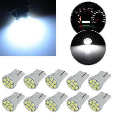 10Pcs 24V White T10 1206 8SMD Car LED License Plate Dashboard Light Bulb 6000k