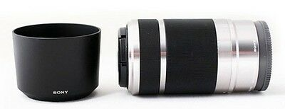 Alpha SEL55210 55-210mm OSS Zoom Lens F/Sony NEX ILCE a5100 a6000 E-mount Silver