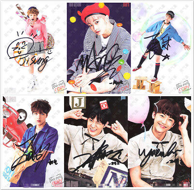 Signed NCT DREAM ALL7Members in-album PROMO Photo Hand Autograph Authentic