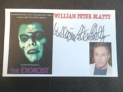"""""""The Exorcist"""" William Peter Blatty Autographed 3x5 Index Card"""