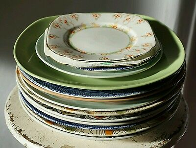 Antique plates and saucers mixed collection