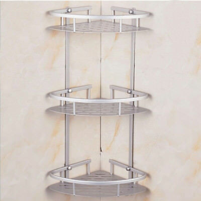 3 Tier Shower Caddy Shelf Storage Rack Aluminum Corner Shampoo Basket Holder
