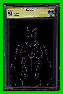 Black Panther #1 (2016 Marvel) Negative Space Variant CGC/CBCS 9.8 Signed
