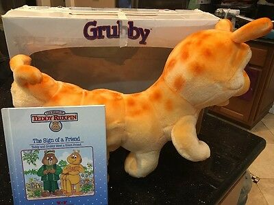 Vintage Grubby Teddy Ruxpin Friend World Of Wonder No cord Very Clean! With Book