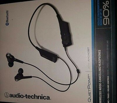 Audio-Technica ATH-ANC40BT QuietPoint Active Noise-Cancelling Bluetooth Wireless