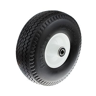 Ambassador FLAT-FREE TROLLEY WHEEL 3.5 x 4 Inch, Puncture Proof, 5/8 Inch Axle