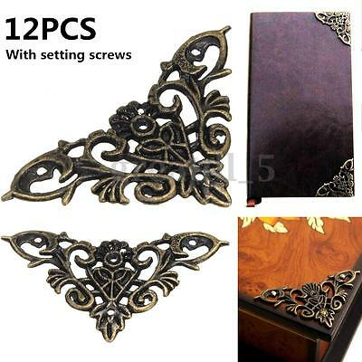 UK 12Pcs Desk Shelf Edge Corner Cover Protector For Jewelry Box Scrapbook Album