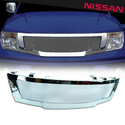 Front Chrome Abs Grid Grill Grille Nissan Frontier Navara D40 2005 06 07 08 2009