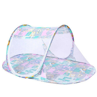 Cute Baby Mosquito Net Foldable Cradle Bed Neting Canopy Cushion Mattress