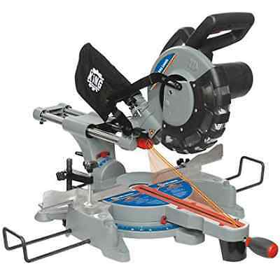 King Canada 8380 10-Inch Sliding Compound Miter Saw with Twin Laser