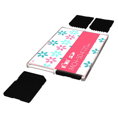 KIWI Ultra Thin Memory Card Case Holder Storage Protector For 4SD Cards Compact