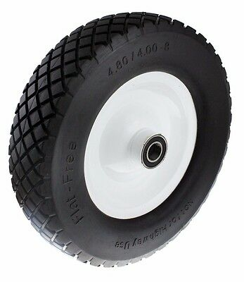 "Ambassador FLAT-FREE METAL WHEEL Puncture Proof, 1"" Axle - 4.0x8 Or 6.5x8 Inch"