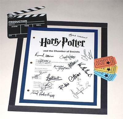 Harry Potter And The Chamber Of Secrets Signed Script 15 Autographs Rpt