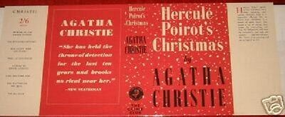 HERCULE POIROT'S CHRISTMAS - 1939 by Agatha Christie - Facsimile Dustjacket Only